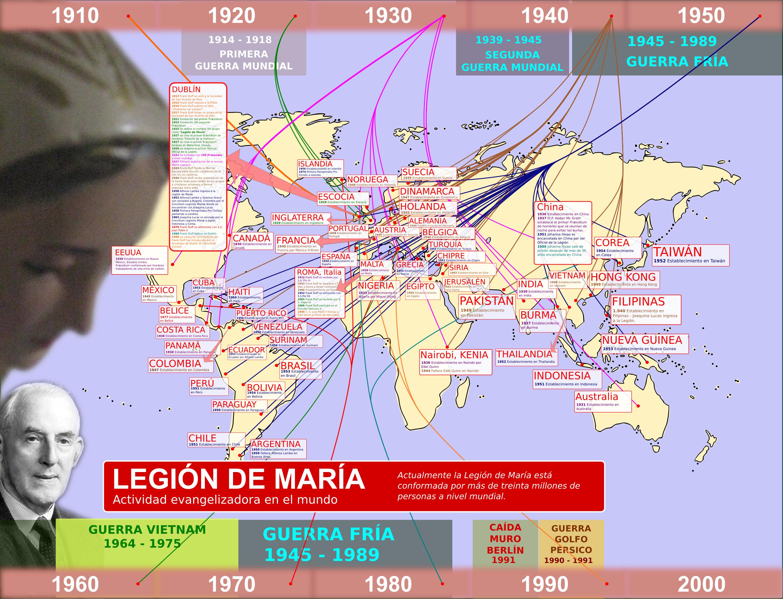 Legión de María en el mundo